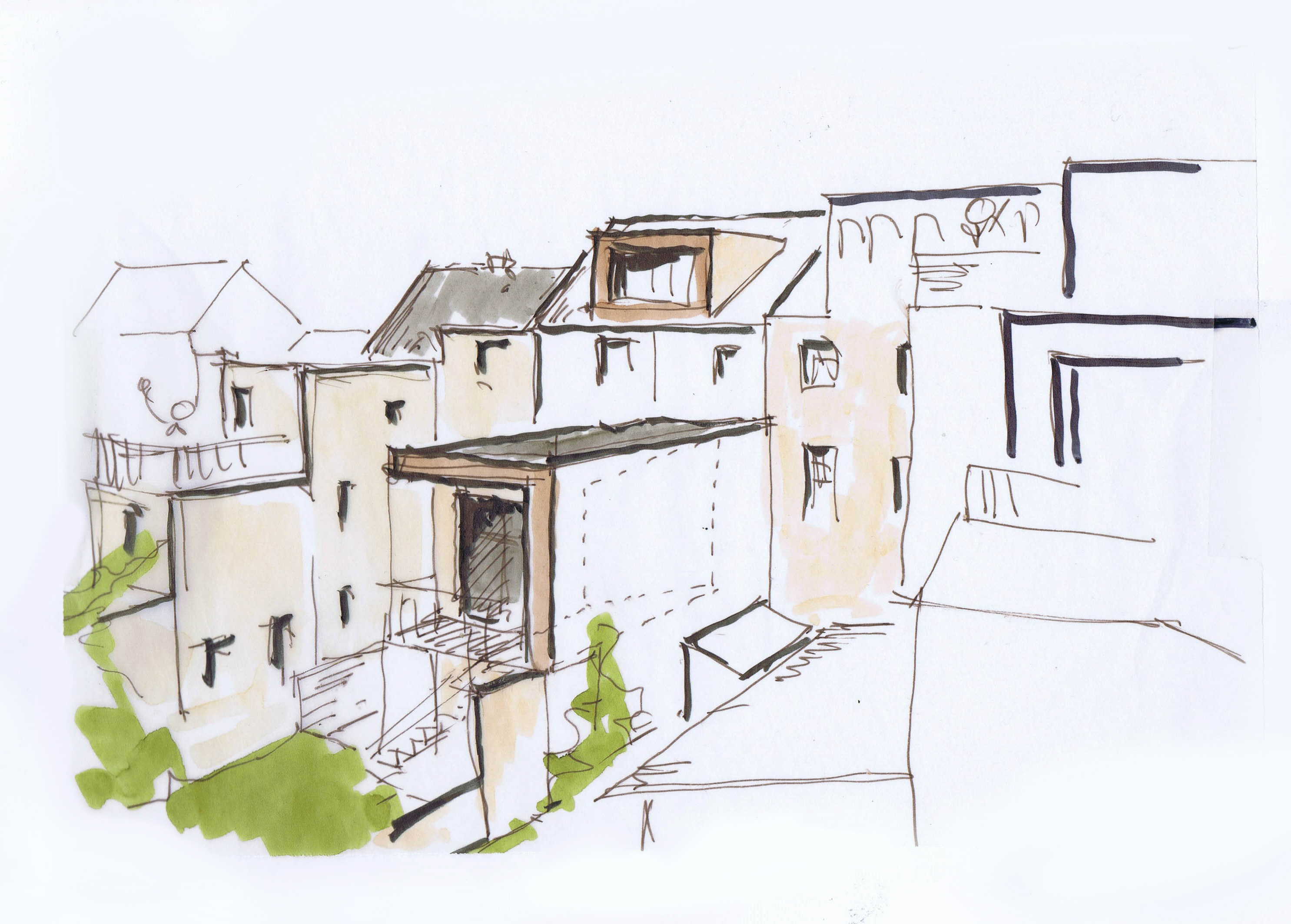 Stadthaus mit kubus architektur michael k walther - Architektur kubus ...